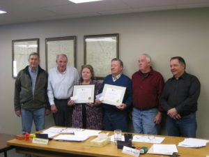 Marjorie Cumming & Ray Lloyd receive award for their extensive work with the Lambton County Historical Society.